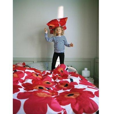 Marimekko Unikko kussensloop rood 50x75cm - duurzaam Fins design