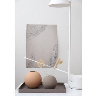 Cooee Design Ball vaas Cafe au Lait H10cm - Minimalistisch Scandinavisch