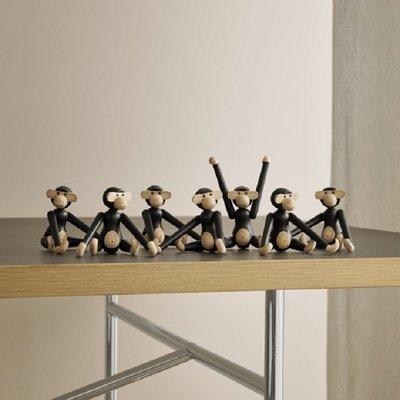 Kay Bojesen Monkey mini H10cm zwart gebeitst eiken - Danish design classic