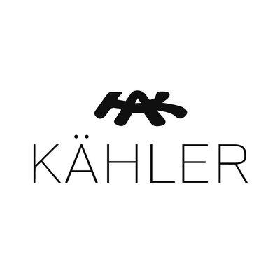 Kähler Design Omaggio Vaas H12,5cm zwart wit - Danish design