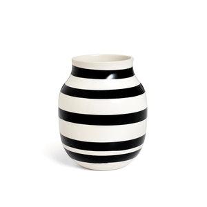 Kähler Design Omaggio vaas H20cm zwart wit