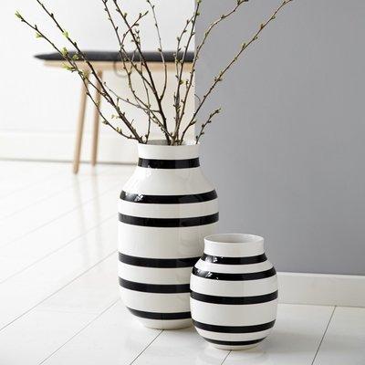 Kähler Design Omaggio vaas H20cm zwart wit - Deens design