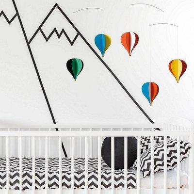 Flensted Mobiles Balloon 5  mobiles kleurrijk Deens design 50x65cm