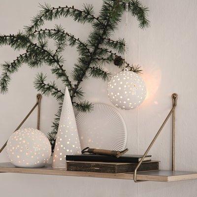 Kähler Design Nobili Cone sneeuw wit H25,5 x Ø10,5cm -