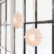Kähler Design Stella hanger wit keramiek Ø13,5cm