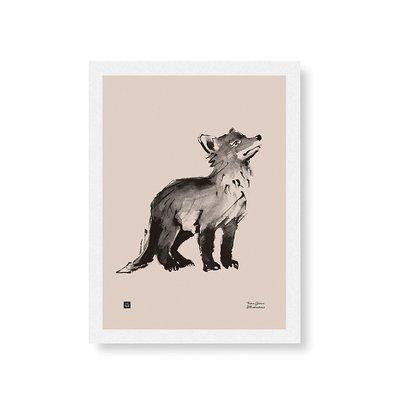 Teemu Järvi  Poster Fox Cub 30x40 - Oud roze FSC paper