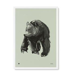 Teemu Järvi  Poster Gentle Bear mint 50x70cm