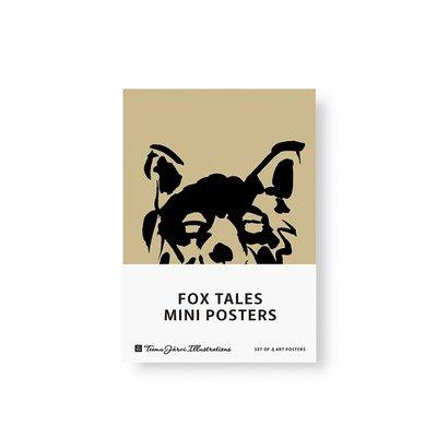 Teemu Järvi  Set 4 mini posters Fox Tales  zand - A5 formaat