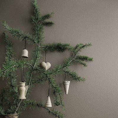 Architectmade Jul BELL hanger -3dlg set  - eiken + leer