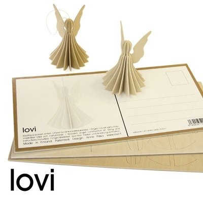 LOVI Angels set naturel wood H6,5cm - 3dlg - duurzaam Fins design