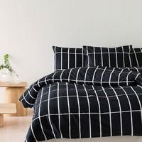 Marimekko Tiiliskivi dekbedhoes zwart 240x220cm