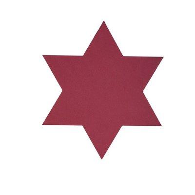 Lind DNA  4 dlg set Star onderzetters nupo rood - Deens design