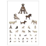 Kay Bojesen Kijk Poster dieren 50x70cm - Deens design