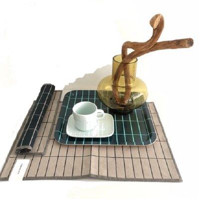 Marimekko serveerbord Tiiliskivi mint 15x12cm