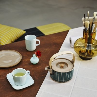 Marimekko Tillikivi koffie mok 2dl mint - uniek Fins design