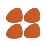 Lind DNA  Onderzetter set Curve Hippo Orange 4 stuks