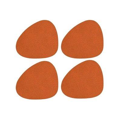 Lind DNA  Onderzetter set Curve Hippo Orange4 stuks - duurzaam