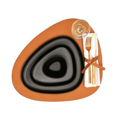 Lind DNA  Placemat Curve L Hippo Orange - duurzaam Deens design