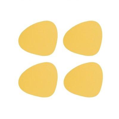 Lind DNA  Onderzetters Curve Nupo Yellow 4 stuks - duurzaam Deens design