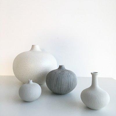 Lindform Vaasje Bari wit H6cm – handmade & duurzaam