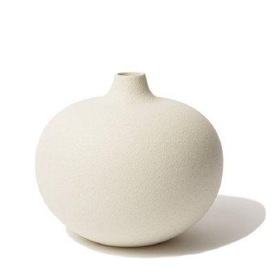 Lindform Vaas Bari XXL – Cream Wit H18cm - handmade