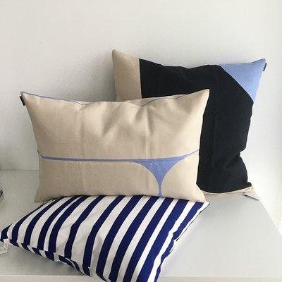 Marimekko Kussenhoes Uimari blauw 50x50cm
