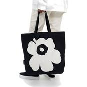 Marimekko Torna Unikko canvas tas zwart - Fins design