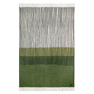 Lina Johansson Plaid Draw Green– wol 130x190cm