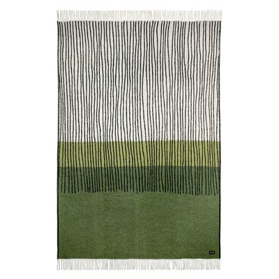 Lina Johansson Plaid Draw Green– wol 130x190cm - Zweeds design