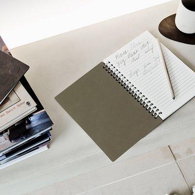 Lind DNA  Notebook - Paper Block Button Groen-Olive A5 formaat