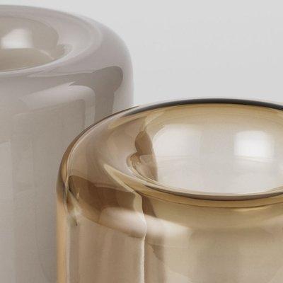 Kristina Dam Opal Vaas Large glas Bruin Topaas Ø14 x H20cm