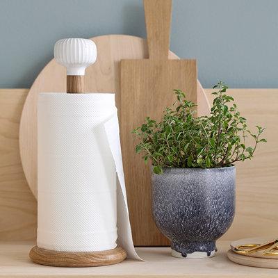 Kähler Design Hammershøi keukenrolhouder wit - H31,5 x Ø14cm