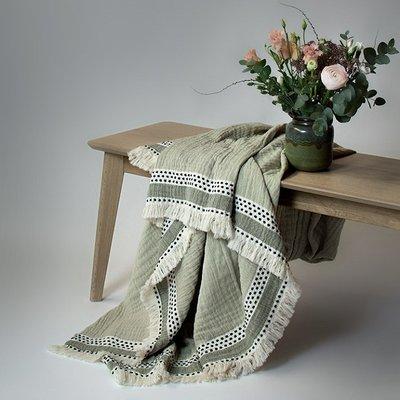 Lina Johansson Plaid Serene Green – katoen - 150x180cm