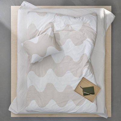 Marimekko Dekbedhoes Lokki beige offwhite 240x220cm