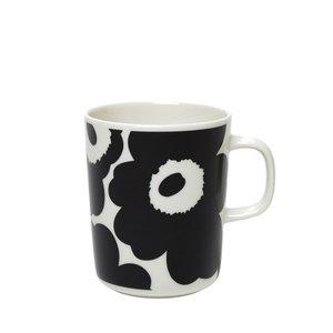 Marimekko Unikko mok 2,5dl zwart wit