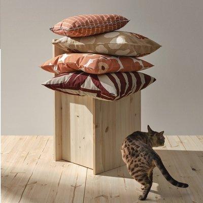 Marimekko Kussenhoes Unikko beige abrikoos 40x60cm  - katoen linnen mix