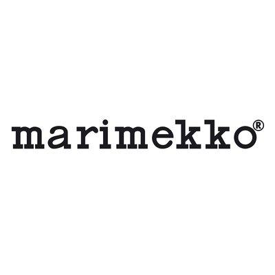 Marimekko Kussenhoes Unikko beige orange 40x60cm  - katoen linnen mix