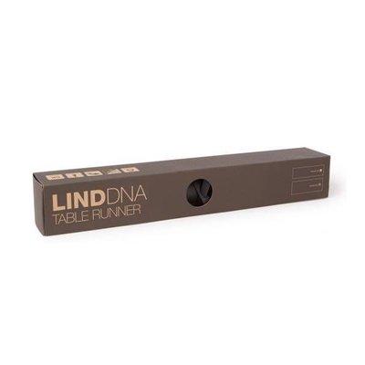 Lind DNA  Tafelloper leer Nupo Zwart 38,5x140cm - Duurzaam Deens design