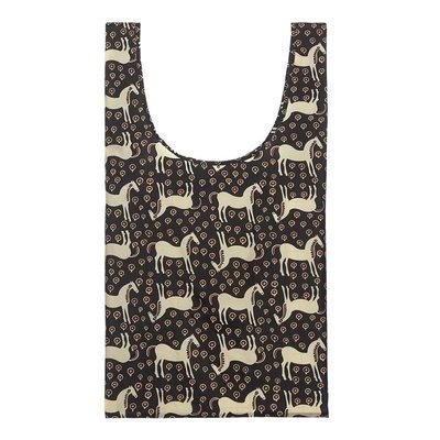 Marimekko Smartbag Musta Tamma - opvouwbare boodschappentas