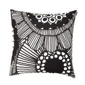 Marimekko Kussenhoes Siirtolapuutarha zwart wit katoen 50x50cm