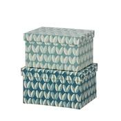Bungalow DK Opberger Brick Duo Box Arabica Ocean Blue