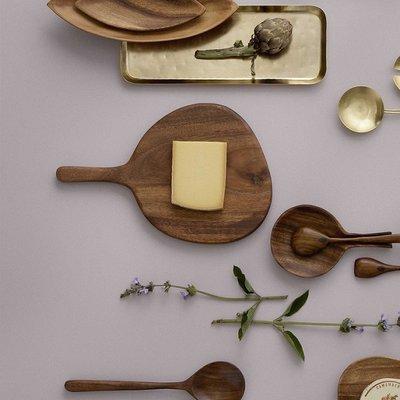 Bungalow DK Houten Acacia snij- serveerplank Avadi met handvat