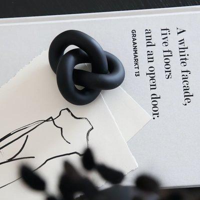 Cooee Design Knot Table small mat zwart 11,5x6x9cm
