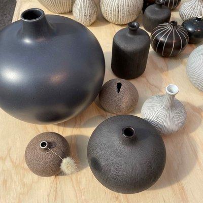 Lindform Vaas Bari XXL – Grey Blue H18cm - Handmade