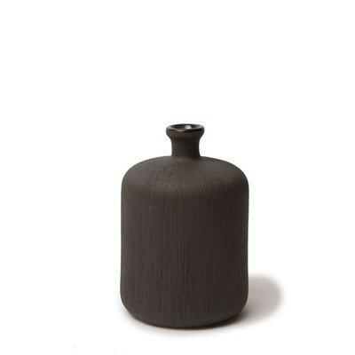 Lindform Vaasje Bottle black H11cm - handmade