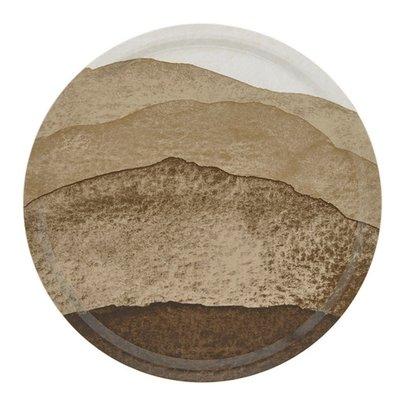 Marimekko Tray Joiku design Ø 46cm - berkentriplex - beige bruin