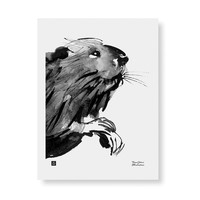 Teemu Järvi  Curious beaver poster 30x40cm