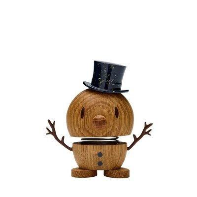 Hoptimist Snowman oak H7,5cm - Deens design