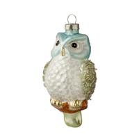 Bungalow DK ornament Glamour Owl glas 6x11cm