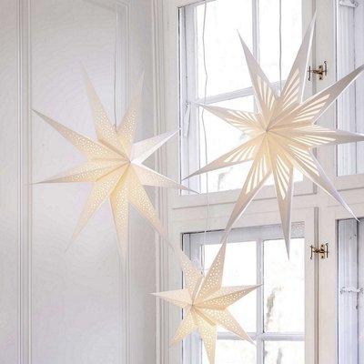 Bungalow DK Star Vivien wit Ø80cm  stevig  papier uit/in vouwbaar